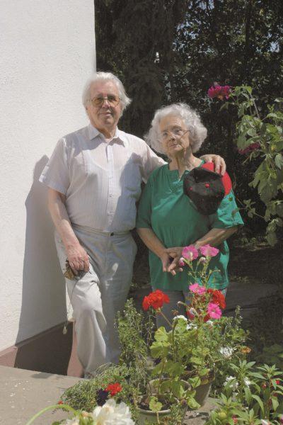 Sütő András és felesége, Éva néni