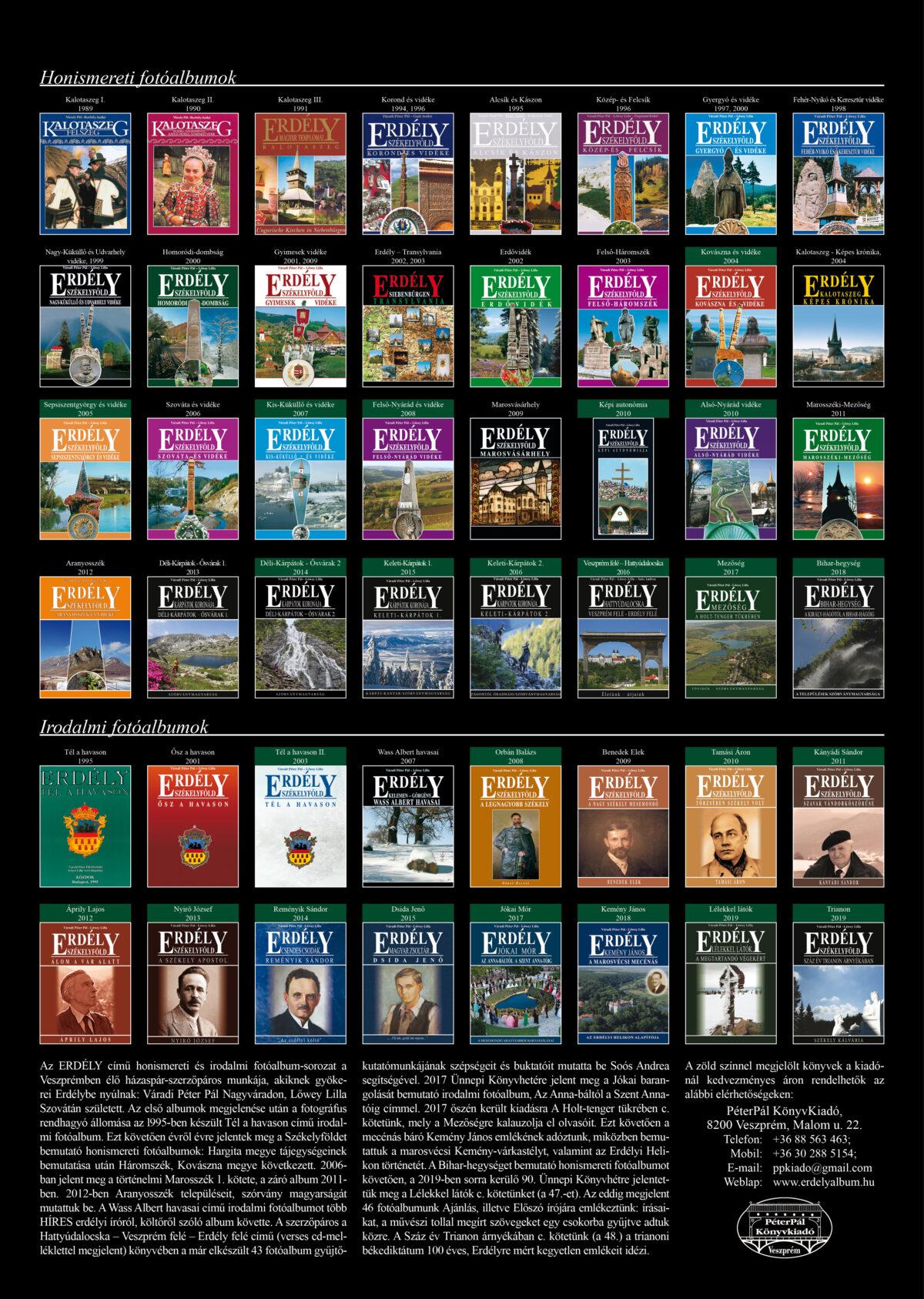 Akciós csomag:<br />24 honismereti és irodalmi fotóalbum