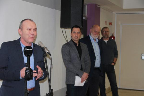 Porga Gyula, Veszprém polgármestere köszönti a vendégeket