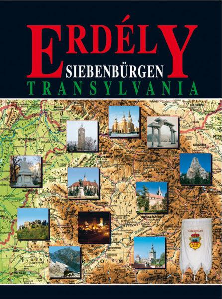 A 3 nyelvű Erdély-könyv borítója