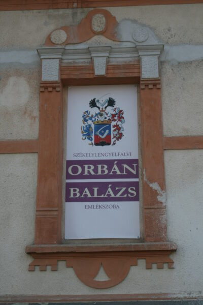 Orbán Balázs emlékére állított tábla Lengyelfalván