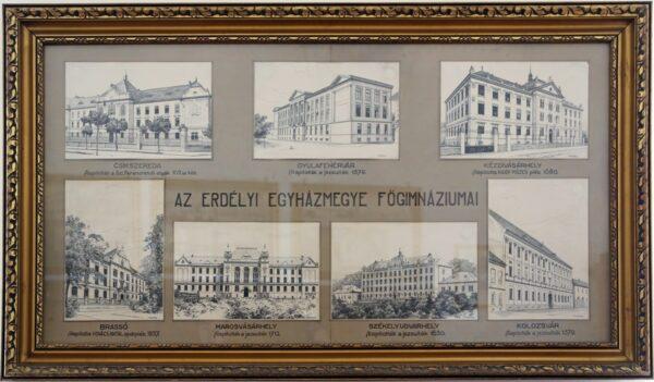 Márton Áron egykori lakosztályában elhelyezett tabló, Gyulafehérvár, püspökség