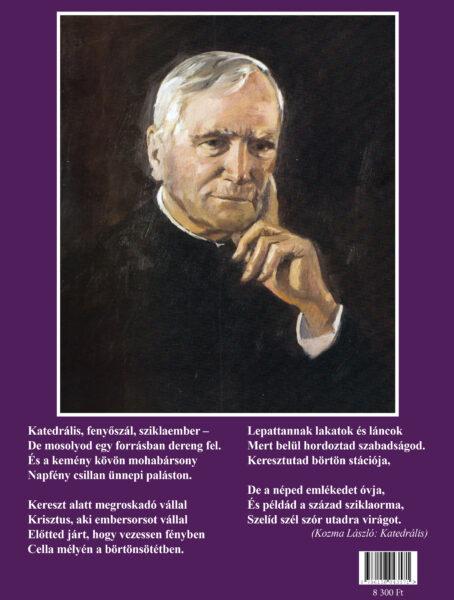 A könyv hátsó borítója, Kozma László Katedrális című versével