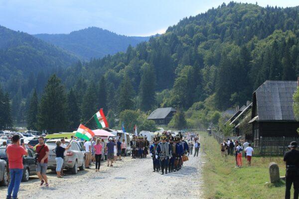 Megemlékező ünnepség a katonatemetőben, 2019 augusztusában