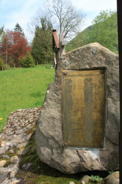 Emléklap a hősi halált halt honvédek névsorával