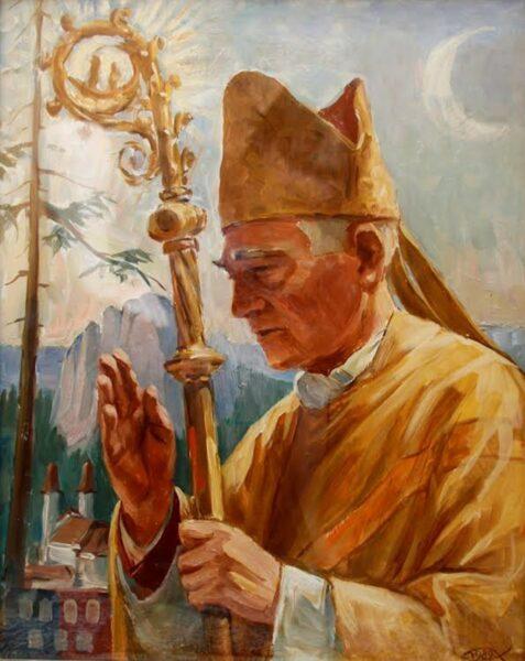 Márton Áron püspök portréja