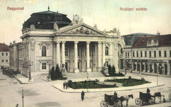 A Bémer tér a Szigligeti Színházzal - oldalt a Bazár-sor
